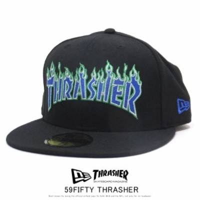 ニューエラ NEW ERA キャップ 帽子 メンズ レディース 59FIFTY メンズ 59FIFTY THRASHER スラッシャー ファイヤーロゴ ブラック 12110809