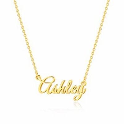IEFSHINY カスタムネームネックレス カスタマイズ可 14Kゴールドメッキネームネックレス カスタマイズ可 名前ネックレス カスタマイズ可