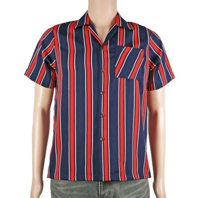 シャツ 半袖/襟付きシャツ/トップス/総柄/Mサイズ メンズ/ファッション 2202