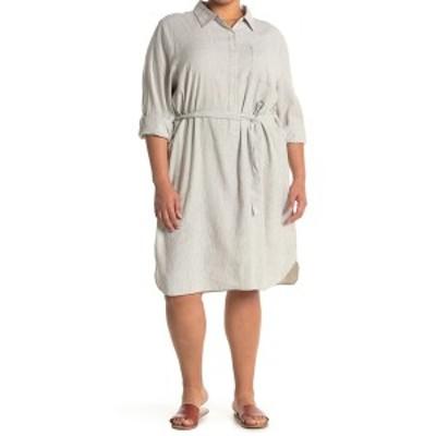 エヌワイディージェイ レディース ワンピース トップス Linen Blend Shirt Dress SLUBBYSTRI