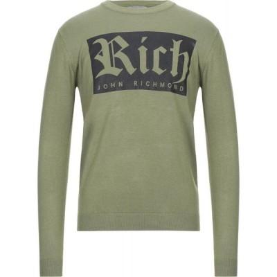 ジョン リッチモンド JOHN RICHMOND メンズ ニット・セーター トップス sweater Military green