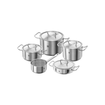 Zwilling???TWIN CLASSIC, Rechargeable Cookware Set 5?pz., in Stainless Steel 18/10?Satin[並行輸入品]