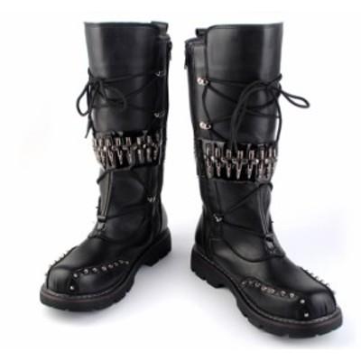 新元号キャンペーン 5%OFF エンジニアブーツ メンズ ブーツ ミリタリーブーツ 皮靴 革靴 ワークブーツ PUレザー ロングブーツ 防水 紳士