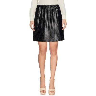 エムエスジーエム MSGM ひざ丈スカート ブラック 42 ポリエステル 58% / ポリウレタン 29% / コットン 9% / レーヨン 4%