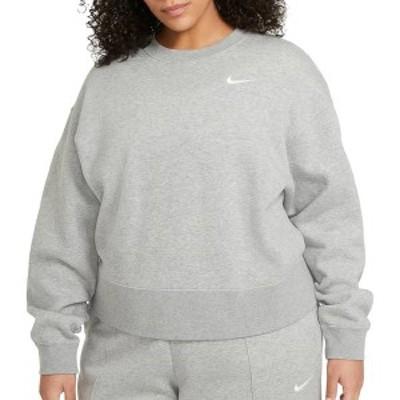 ナイキ レディース パーカー・スウェット アウター Nike Women's Plus Size Trend Essential Crew Pullover Dk Grey Heather