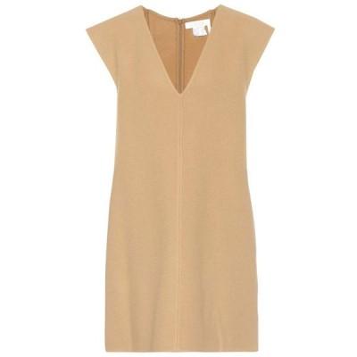 クロエ Chloe レディース ワンピース ワンピース・ドレス Stretch wool minidress Barley Brown