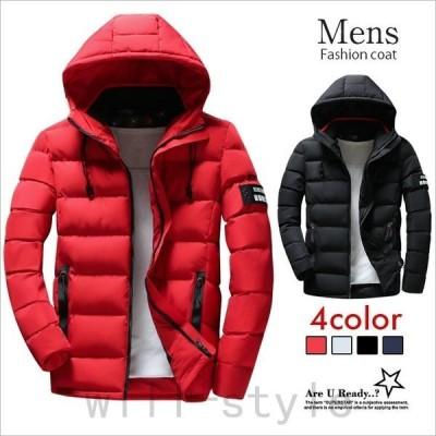 中綿コート中綿ジャケットメンズ防寒アウターフード付きコートメンズカジュアル厚手保温防寒防風冬ジャケット