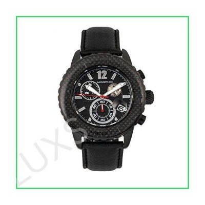 Morphic Men's M51 Series Chronograph Stainless Steel Swiss Quartz Watch with Leather Strap, Black, 23 (Model: MPH5104) 並行輸入品