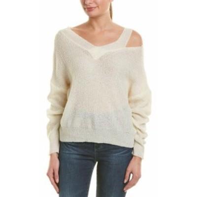 ファッション トップス Aiden Cutout Shoulder Sweater