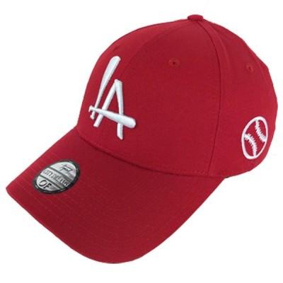 LA ロゴ スナップバック キャップ ロサンジェルス 赤 レッド ストリート メンズ●sbc746