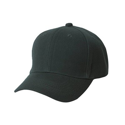 Plain Fitted Hat - Black, 6 3/4