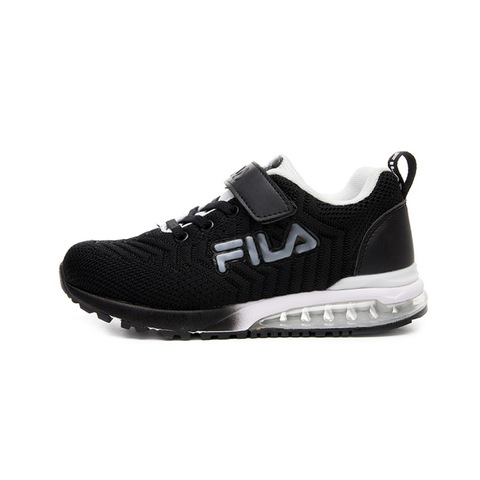 FILA KIDS 大童MD氣墊慢跑鞋-黑白 3-J406V-001