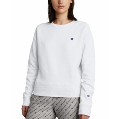 チャンピオン レディース シャツ トップス Women's Embroidered Logo Sweatshirt Silver