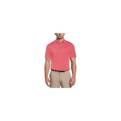 PGAツアー ポロシャツ トップス メンズ Men's Feeder Stripe Polo Shirt Virtual Pi