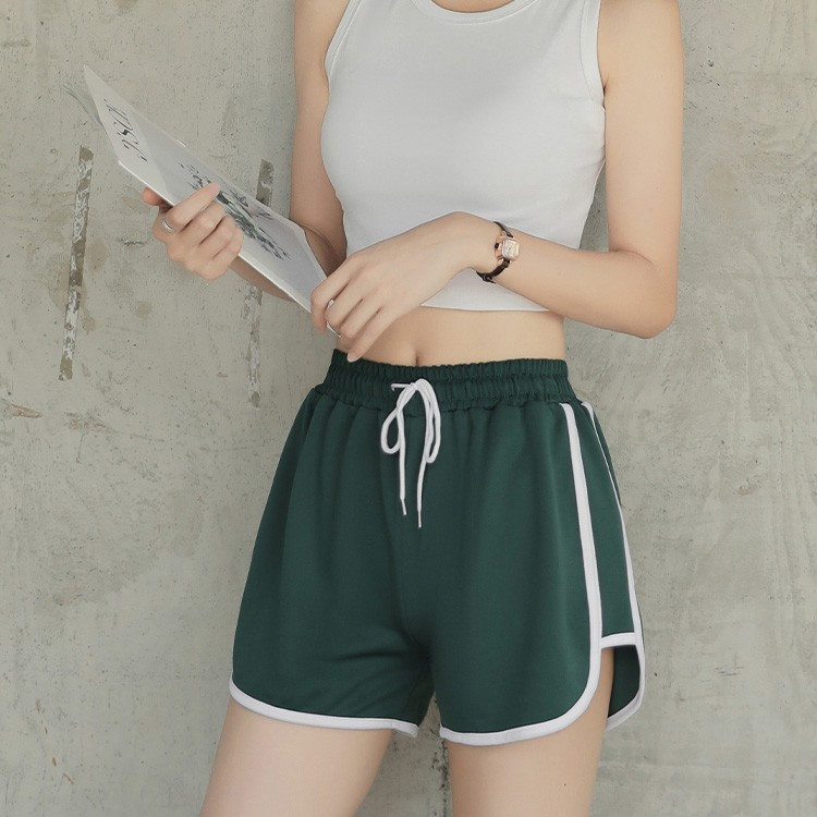 ECLARE&MIEL-春夏寬鬆綁繩高腰顯瘦運動短褲(四色)【CG159】