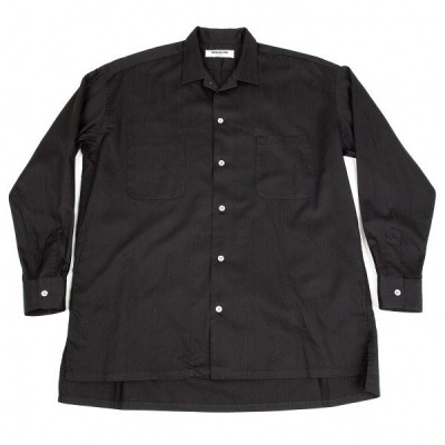モルディフイグMOLDYFIG ワイズビスY'S bis シャドーストライプコットンシャツ 黒M位 【メンズ】