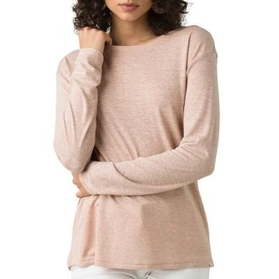 プラーナ シャツ トップス レディース prAna Women's Cozy Up Long Sleeve Shirt ChampagneHeather