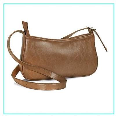【新品】befen Women's Fashion Leather Shoulder Bag Chic Retro Baguette Clutch Purses with Card Slots (Cognac)(並行輸入品)