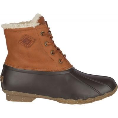スペリートップサイダー Sperry Top-Sider レディース ブーツ ウインターブーツ Sperry Saltwater Winter Lux 200g Waterproof Duck Boots Tan/Brown