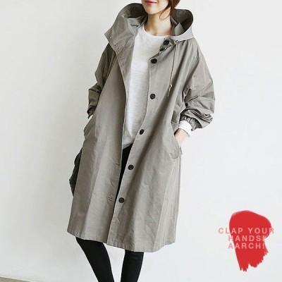 大きいサイズ コート レディース ファッション ぽっちゃり おおきいサイズ あり フーディー モッズコート オーバーサイズ M L LL 3L  秋冬