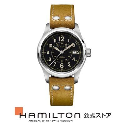 ハミルトン 公式 腕時計 HAMILTON  カーキ フィールド  自動巻き 40.00MM レザーベルト H70595593 男性 正規品