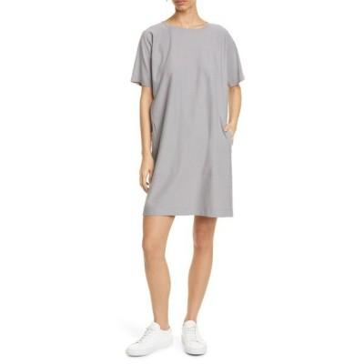 エイリーンフィッシャー ワンピース トップス レディース T-Shirt Dress Zinc