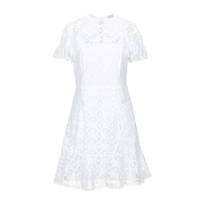 SANDRO ミニワンピース&ドレス ホワイト 40 コットン 100% ミニワンピース&ドレス