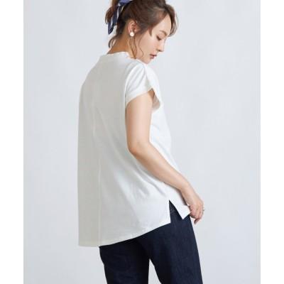 (Rejoule/リジュール)【2021新作商品 】モックネックフレンチスリーブTシャツ/レディース オフホワイト