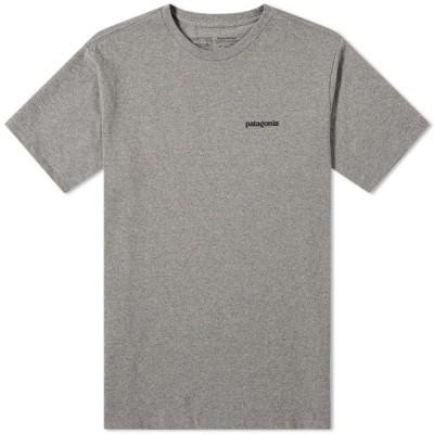 パタゴニア Patagonia メンズ Tシャツ トップス P-6 Logo Responsibili-Tee Gravel Heather