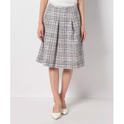 (MISS J/ミス ジェイ)【セットアップ対応】LINTONツイードスカート/レディース ネイビー