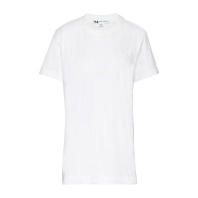 ワイスリー Y-3 T シャツ ホワイト XS コットン 100% / ポリウレタン T シャツ