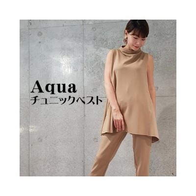 【Aqua】2020`秋 チュニックベスト 【3222701-27】