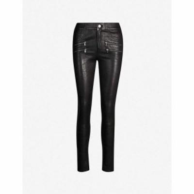 ペイジ PAIGE レディース ジーンズ・デニム ボトムス・パンツ Edgemont skinny mid-rise leather jeans BLACK