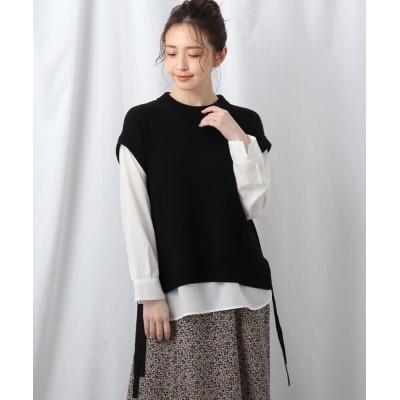 Reflect / 【洗える】シャツ袖ニットベスト+シャツヘムセット WOMEN トップス > その他トップス