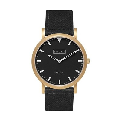 Shore Projects St. Ives Watch with Classic Strap | Gold/Charcoal/Black 並行輸入品