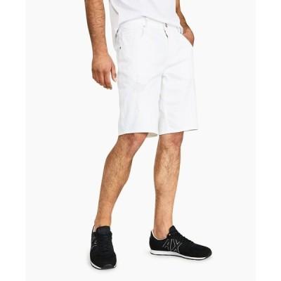 アルマーニ カジュアルパンツ ボトムス メンズ Men's Stretch Bull Denim Shorts, Created for Macy's White