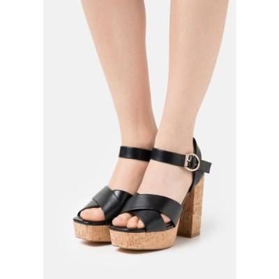 レディース 靴 シューズ ONLATUMN - Platform sandals - black