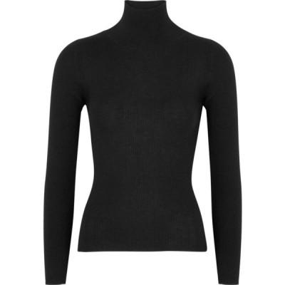 ヴィラオ Villao レディース ニット・セーター トップス Black ribbed cashmere jumper Black