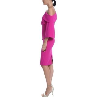 バッジェリー ミシュカ Badgley Mischka レディース パーティードレス 結婚式 ワンピース・ドレス Asymmetrical Off-the-Shoulder Cocktail Dress Midnight