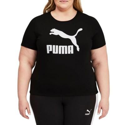 プーマ レディース シャツ トップス Plus Size Cotton Classics Logo T-Shirt