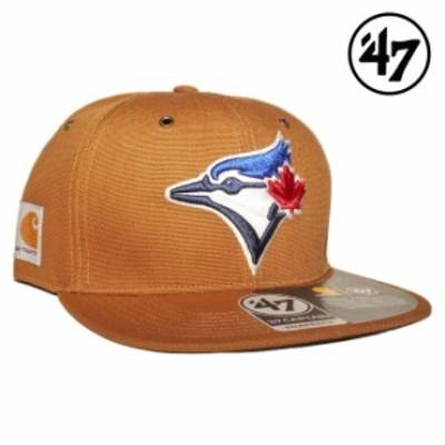 47ブランド カーハート コラボ スナップバックキャップ 帽子 メンズ レディース 47BRAND CARHARTT MLB トロント ブルージェイズ フリーサ