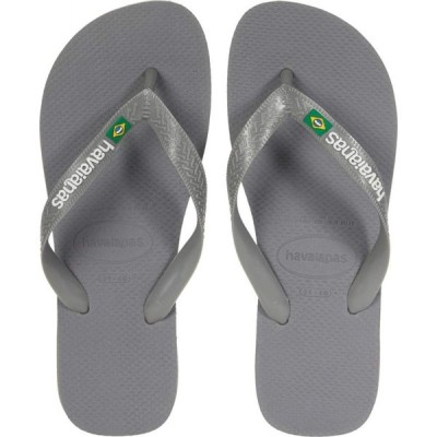 ハワイアナス Havaianas レディース ビーチサンダル シューズ・靴 Brazil Logo Flip Flops Steel Grey/Grey