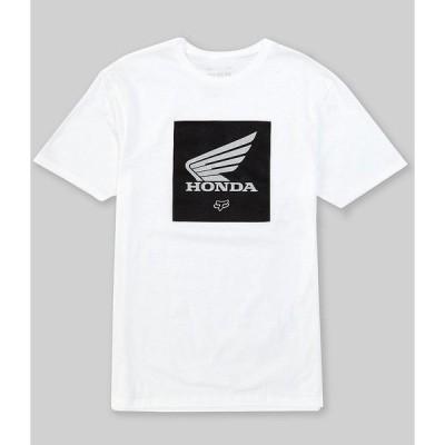 フォックス メンズ Tシャツ トップス Honda Premium Update Short-Sleeve Graphic T-Shirt Optic White