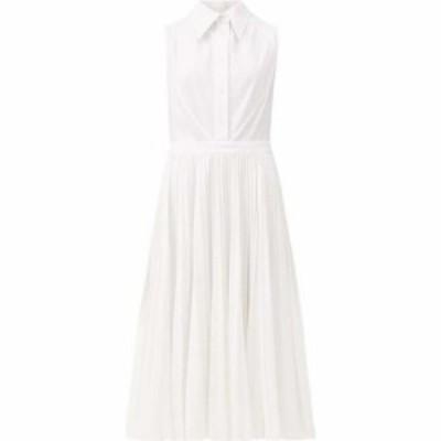 ダンカン Duncan レディース ワンピース シャツワンピース ワンピース・ドレス Ophelia pique-panelled cotton shirt dress White