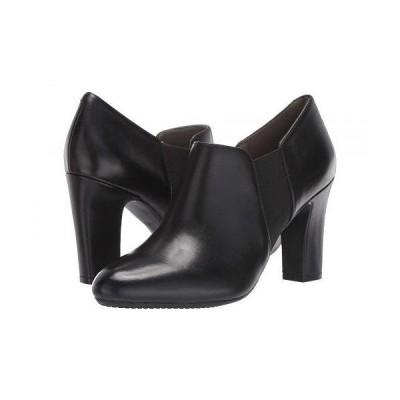 Aerosoles エアロソールズ レディース 女性用 シューズ 靴 ブーツ アンクル ショートブーツ Phone Tag - Black Leather
