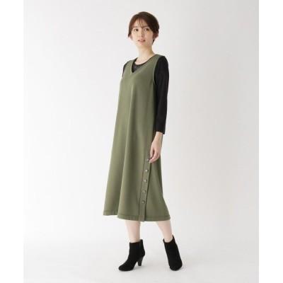 CORDIER(コルディア) 深Vミモレ丈ジャンパースカート