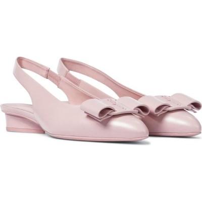 サルヴァトーレ フェラガモ Salvatore Ferragamo レディース スリッポン・フラット シューズ・靴 viva leather slingback ballet flats Nylund Pink
