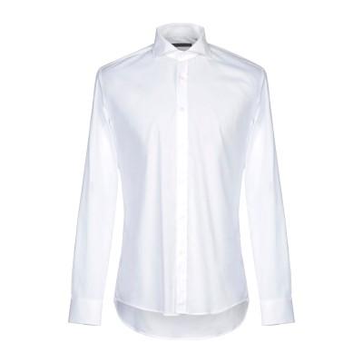 グレイ ダニエレ アレッサンドリーニ GREY DANIELE ALESSANDRINI シャツ ホワイト 43 コットン 97% / ポリウレタン