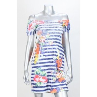 Robe  ファッション ドレス Rubis Rox Neuf Bleu Floral Square-Neck Chiffonne sans Couture Robe 7