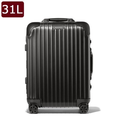 【RIMOWA★入荷しました!】リモワ RIMOWA オリジナル キャビン S キャリーオン 4輪 スーツケース 31L(1〜2泊向け) 機内持込可 92552014 BLACK